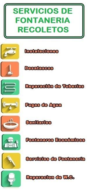 servicios de fontaneria en Recoletos