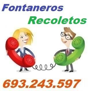 Telefono de la empresa fontaneros Recoletos